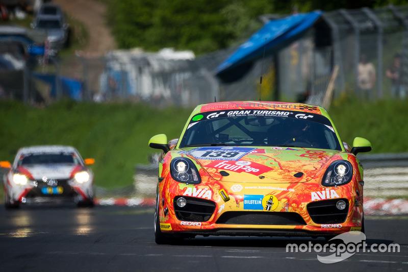 #139 Team Securtal Sorg Rennsport, Porsche Cayman S: Peter Haener, Paul Follett, Ugo Vincenzi, Alberto Carobbio