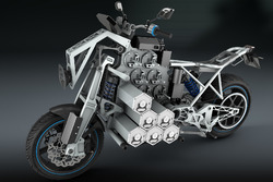 Computerdesign van STORM Wave, elektrische tourmotorfiets