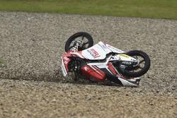 Khairul Idham Pawi, Honda Team Asia crash
