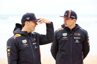 Max Verstappen, Red Bull Racing, en Pierre Gasly, Red Bull Racing