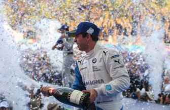 Antonio Felix da Costa, BMW I Andretti Motorsports, 2nd position, celebrates on the podium