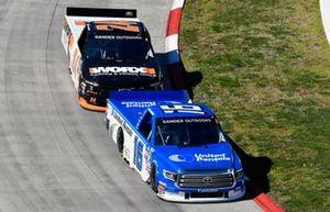 Austin Hill, Hattori Racing Enterprises, Toyota Tundra United Rentals and Brett Moffitt, GMS Racing, Chevrolet Silverado Worx Garden & Power Tools