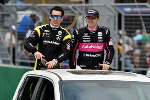 Simon Pagenaud, Team Penske Chevrolet, Jack Harvey, Meyer Shank Racing with Arrow SPM Honda