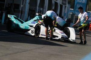Oliver Turvey, NIO Formula E Team, NIO Sport 004 is pushed back into the garage
