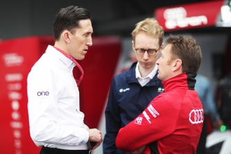 James Barclay, Team Director, Panasonic Jaguar Racing with Sylvain Filippi, Managing Director & CTO, Virgin Racing, Allan McNish, Team Principal, Audi Sport Abt Schaeffler