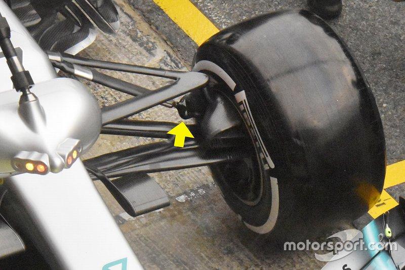 Mercedes-AMG F1 W10, dettaglio