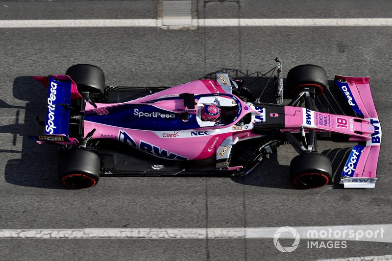 Lance Stroll, SportPesa Racing Point F1 Team RP19 with aero sensor