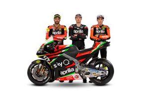 Aleix Espagaro, Bradley Smith, Andrea Iannone, Aprilia Racing Team Gresini