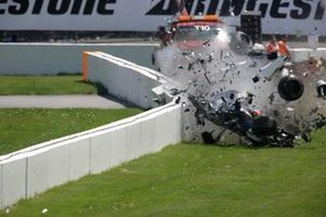 Crash: Robert Kubica, BMW Sauber F1.07
