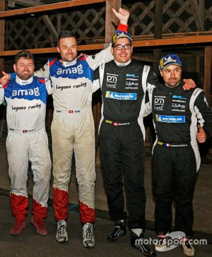 The winner Ivan Ballinari, Giusva Pagani, Skoda Fabia R5, Lugano Racing Team, second place driver Michael Burri, Anderson Levratti, Skoda Fabia R5, D-Max Swiss