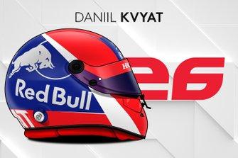 El casco 2019 de Daniil Kvyat
