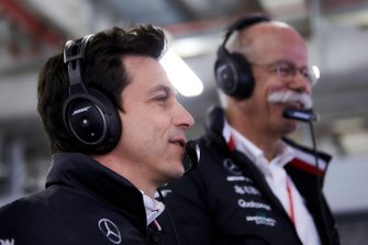 Toto Wolff, Executive Director (Business), Mercedes AMG, with Dr Dieter Zetsche, CEO, Mercedes Benz