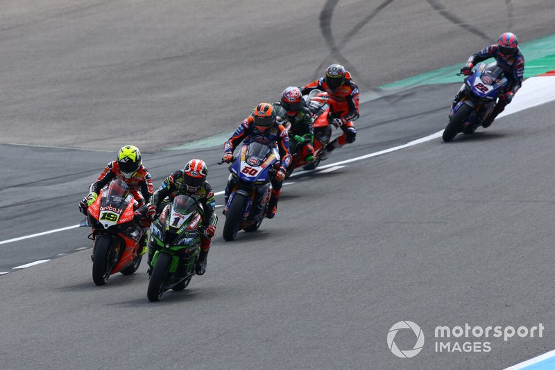 Jonathan Rea, Kawasaki Racing, Alvaro Bautista, Aruba.it Racing-Ducati Team, Michael van der Mark, Pata Yamaha