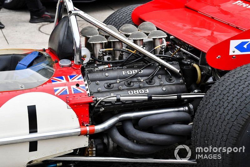 The Cosworth DFV engine of the Lotus 49