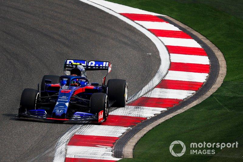 Alexander Albon, Toro Rosso STR14: desde el pitlane
