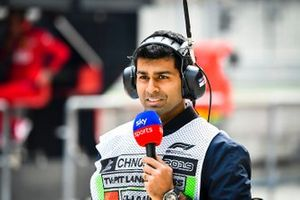 Karun Chandhok, Sky Sports F1, in the pit lane
