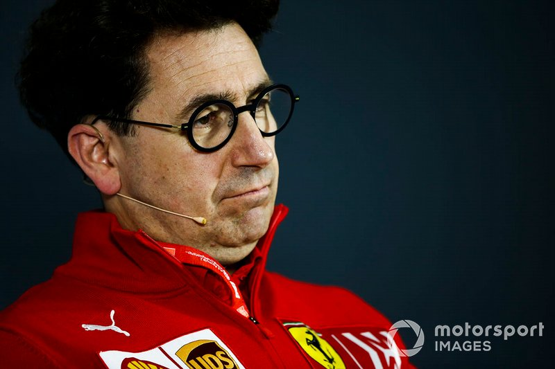 Mattia Binotto, Team Principal Ferrari, in the Friday Press Conference