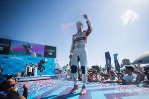 Daniel Abt, Audi Sport ABT Schaeffler celebrates on the podium