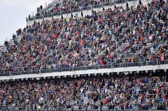 Fans in grandstands.