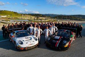 Teamfoto #912 Wright Motorsports Porsche 911 GT3 R: Matt Campbell, Dennis Olsen, Dirk Werner, #912 Wright Motorsports Porsche 911 GT3 R: Matt Campbell, Dennis Olsen, Dirk Werner