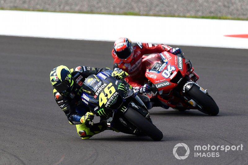 Valentino Rossi et Andrea Dovizioso