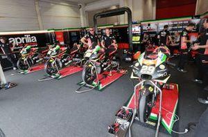 Aprilia Racing Team Gresini garage atmosphere