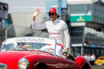 Antonio Giovinazzi, Alfa Romeo Racing, in the drivers parade