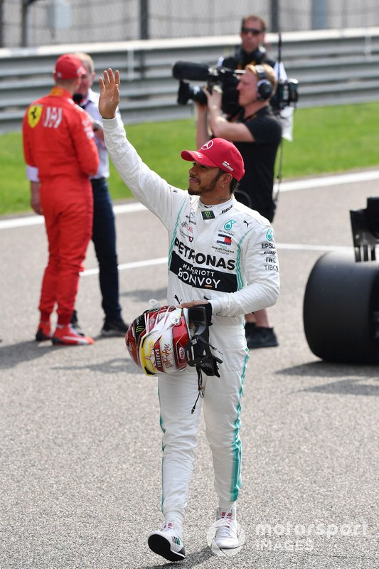 Lewis Hamilton, Mercedes AMG F1, on the grid