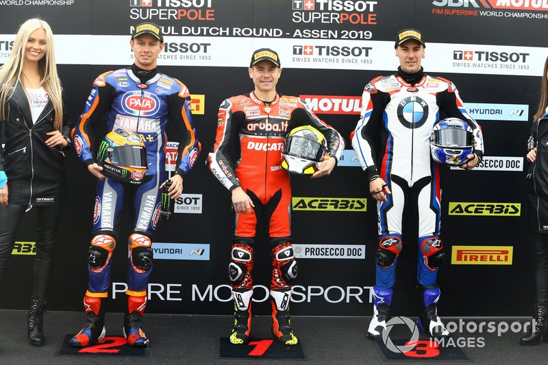 Michael van der Mark, Pata Yamaha, Alvaro Bautista, Aruba.it Racing-Ducati Team, Markus Reiterberger, BMW Motorrad WorldSBK Team