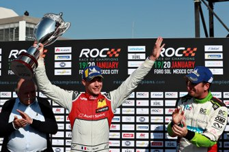 Runner up Loic Duval, celebrates on the podium