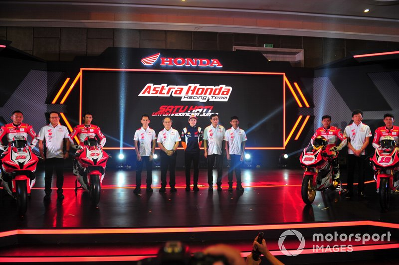 Astra Honda Racing Team with PT Astra Honda Motor management and Marc Marquez, Repsol Honda Team