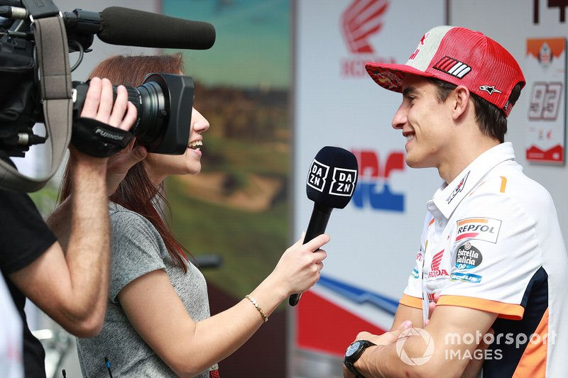 Marc Marquez, Repsol Honda Team with media