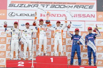 Podium: race winners #36 Team Tom's Lexus LC500: Yuhi Sekiguchi, Kazuki Nakajima, second place #37 Team Tom's Lexus LC500: Ryo Hirakawa, Nick Cassidy, third place #6 Lexus Team LeMans Lexus LC500: Kazuya Oshima, Kenta Yamashita
