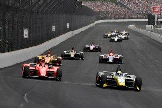 Charlie Kimball, Carlin Chevrolet, Marco Andretti, Andretti Herta with Marco & Curb-Agajanian Honda