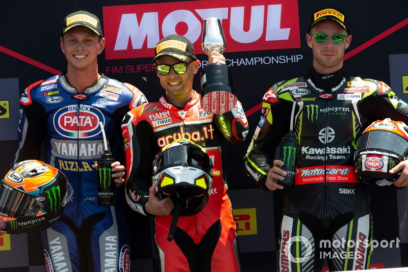 Michael van der Mark, Pata Yamaha, Alvaro Bautista, Aruba.it Racing-Ducati Team, Jonathan Rea, Kawasaki Racing