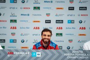 Jérôme d'Ambrosio, Mahindra Racing, lors d'une conférence de presse