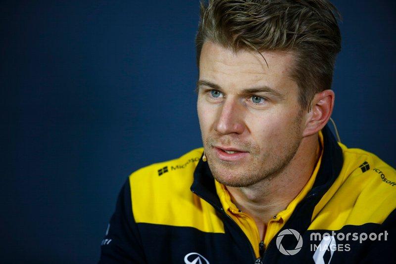 Nico Hulkenberg, Renault F1 Team en la conferencia