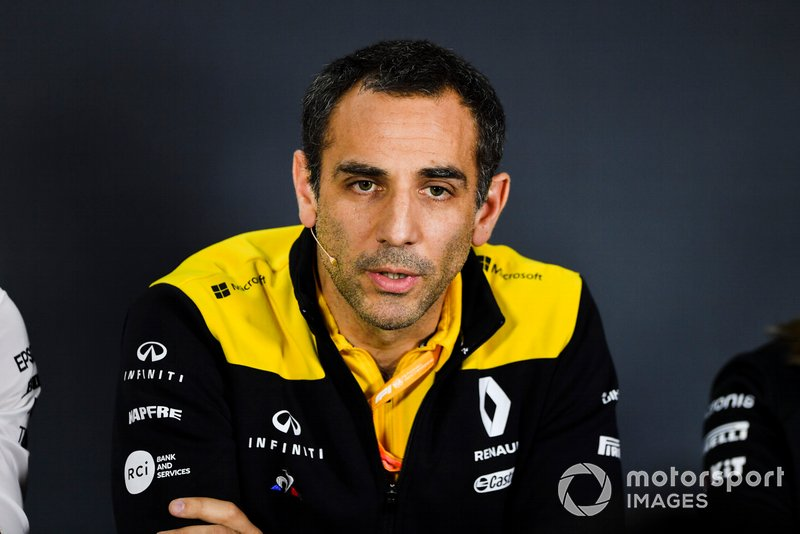 Cyril Abiteboul, Managing Director, Renault F1 Team, durante la conferenza stampa