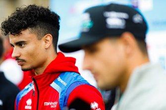 Pascal Wehrlein, Mahindra Racing, parla con la stampa
