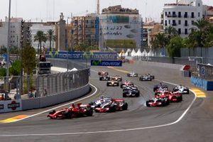 Felipe Massa, Ferrari F2008, Lewis Hamilton, McLaren MP4-23 Mercedes, Robert Kubica, BMW Sauber F1.08, Heikki Kovalainen, McLaren MP4-23 Mercedes, Kimi Raikkonen, Ferrari F2008