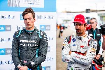 Alex Lynn, Panasonic Jaguar Racing, en Lucas Di Grassi, Audi Sport ABT Schaeffler