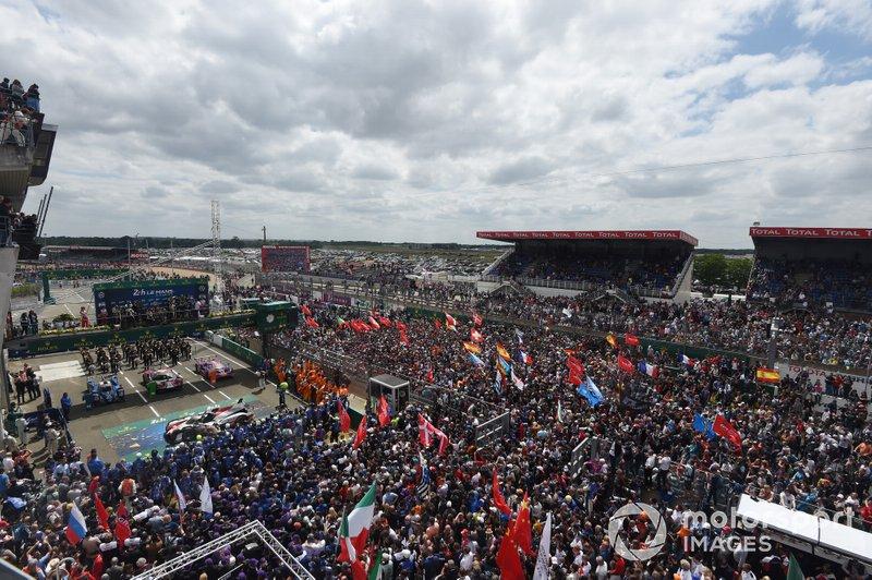 Siegerehrung in Le Mans