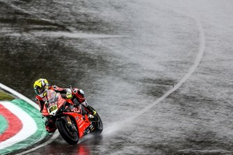 Alvaro Bautista, Aruba.it Racing-Ducati Team on wet assessment laps