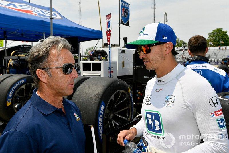 Graham Rahal, Rahal Letterman Lanigan Racing Honda, mit Calvin Fish