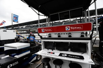 Le box de Graham Rahal, Rahal Letterman Lanigan Racing Honda Total