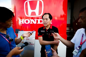 Toyoharu Tanabe, F1 Technical Director, Honda speaks to the media