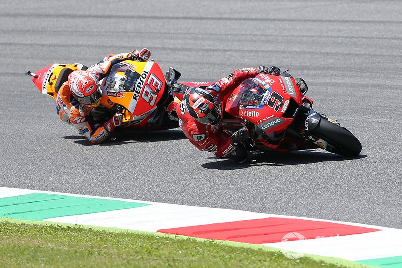 Marc Marquez, Repsol Honda Team y Danilo Petrucci, Ducati Team