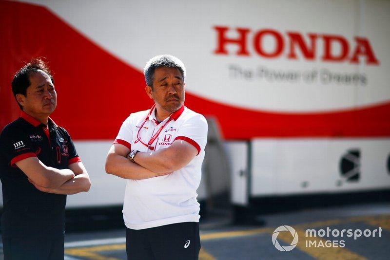 Toyoharu Tanabe, F1 Technical Director, Honda, Masashi Yamamoto, General Manager, Honda Motorsport