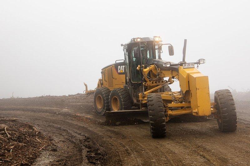 Tractor en el camino