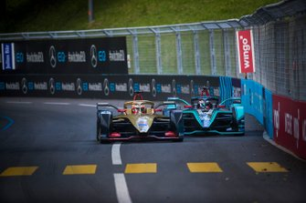 Jean-Eric Vergne, DS TECHEETAH, DS E-Tense FE19 battles with Mitch Evans, Panasonic Jaguar Racing, Jaguar I-Type 3